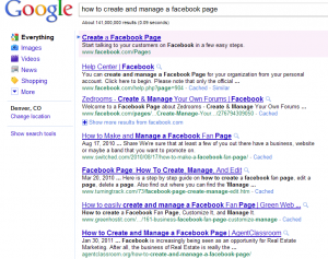 Google Results for My Blog page